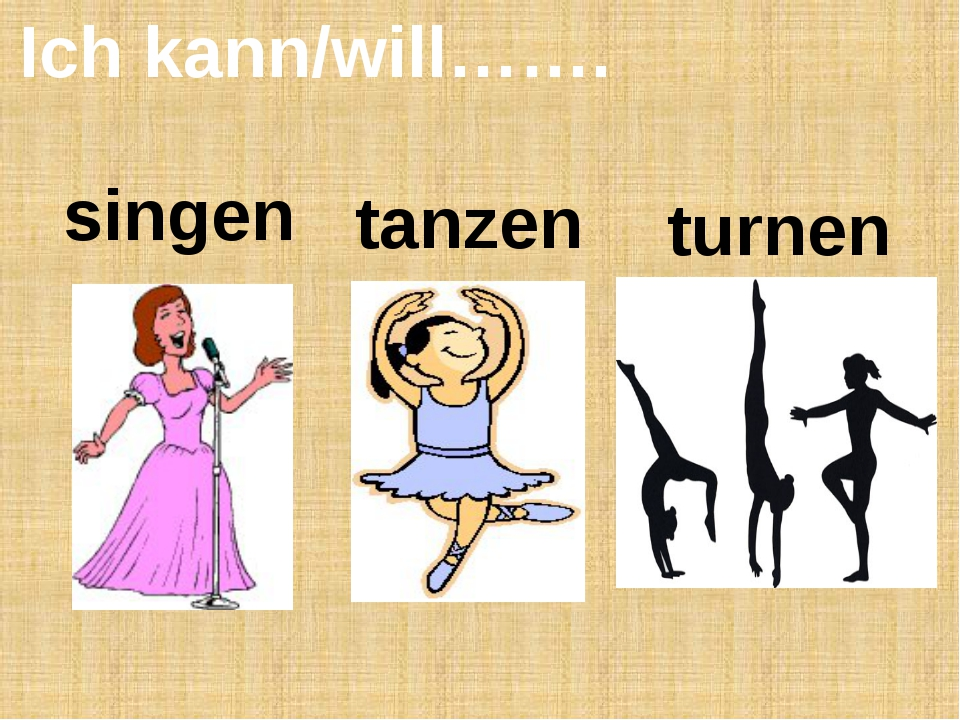 Ich kann/will……. singen tanzen turnen