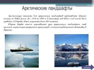 Арктические ландшафты Экологическую опасность для арктических ландшафтов пре