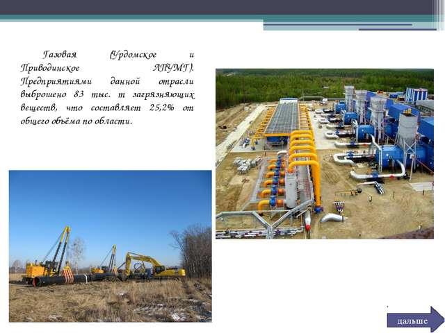 Газовая (Урдомское и Приводинское ЛПУМГ). Предприятиями данной отрасли выбро...