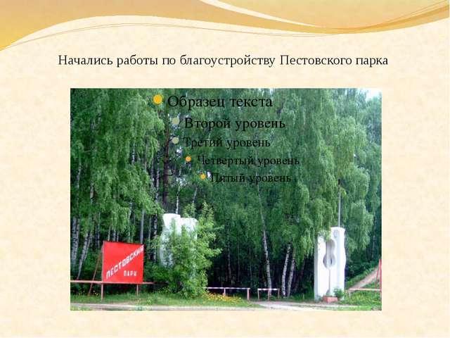 Начались работы по благоустройству Пестовского парка