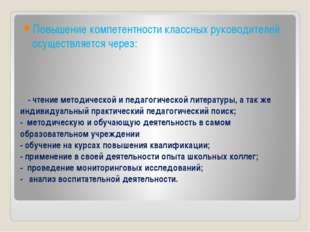 - чтение методической и педагогической литературы, а так же индивидуальный пр