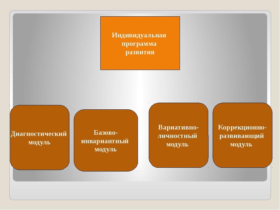 Индивидуальная программа развития Диагностический модуль Базово- инвариантны...