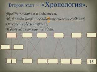 Пройдя по датам и событиям, Их в правильной последовательности соединив, Откр