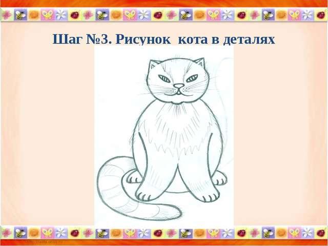 Шаг №3. Рисунок кота в деталях