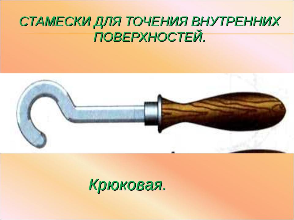 СТАМЕСКИ ДЛЯ ТОЧЕНИЯ ВНУТРЕННИХ ПОВЕРХНОСТЕЙ. Крюковая.