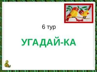 УГАДАЙ-КА 6 тур