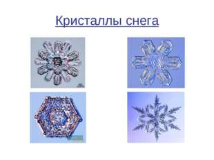 Кристаллы снега