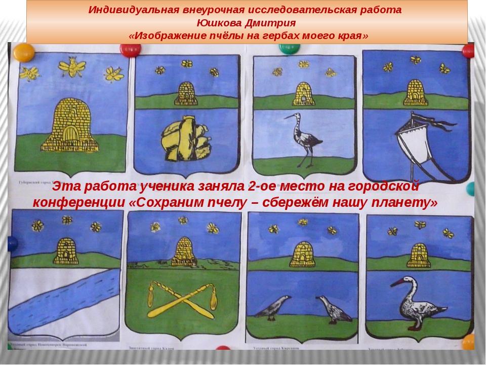 Индивидуальная внеурочная исследовательская работа Юшкова Дмитрия «Изображени...