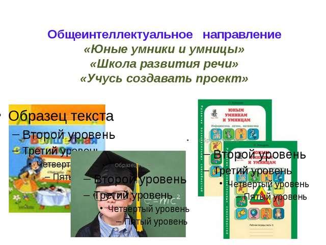 Общеинтеллектуальное направление «Юные умники и умницы» «Школа развития речи»...