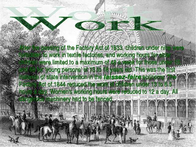 After the passing of the Factory Act of 1833, children under nine were forbi...