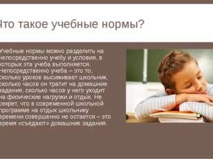 Что такое учебные нормы? Учебные нормы можно разделить на непосредственно уче