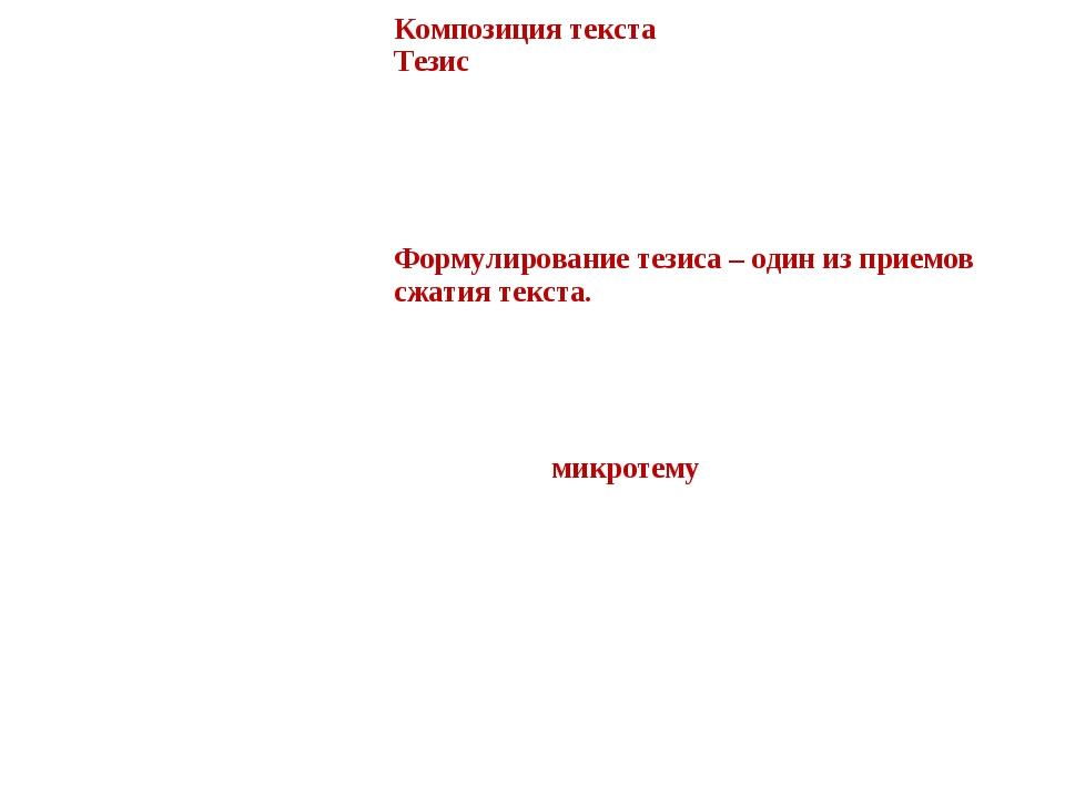3. Этап определения структуры текста. Назовите композиционные части текста....