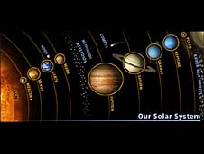 Illustration of the solar system from the Solar Exploration Web site