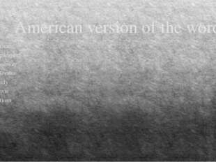 American version of the words American An apartment The subway An elevator A