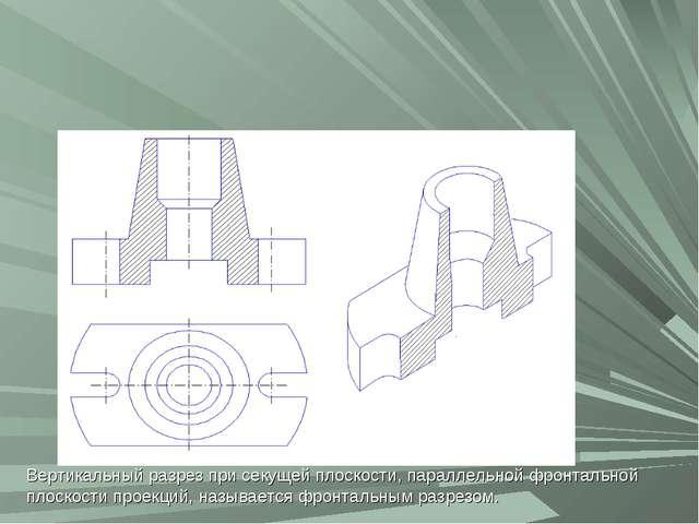 Вертикальный разрез Вертикальный разрез при секущей плоскости, параллельной ф...