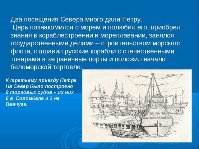 Два посещения Севера много дали Петру. Царь познакомился с морем и полюбил ег...