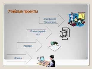 Учебные проекты Электронная презентация Реферат Компьютерный тест Доклад