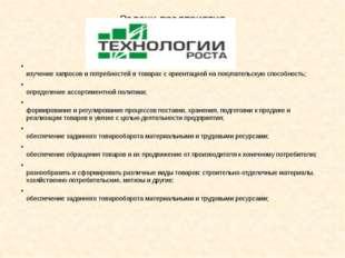 Задачи предприятия изучение запросов и потребностей в товарах с ориентацией н