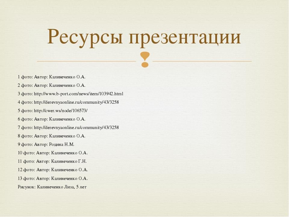 1 фото: Автор: Калинеченко О.А. 2 фото: Автор: Калинеченко О.А. 3 фото: http:...