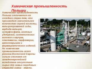 Химическая промышленность Польши отличается от соседних стран тем, что произв