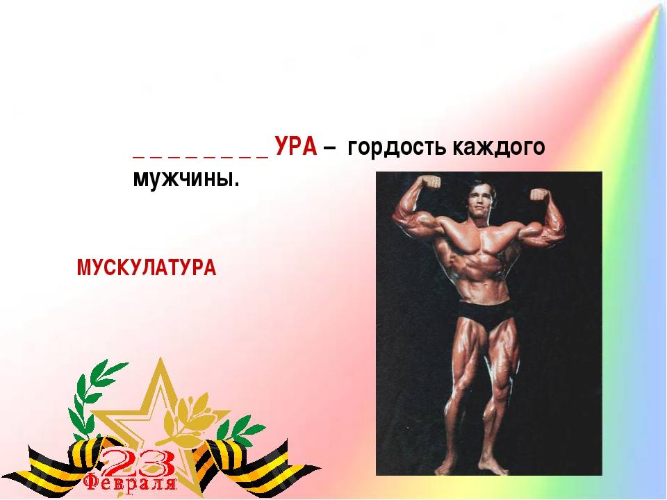 _ _ _ _ _ _ _ _ УРА – гордость каждого мужчины. МУСКУЛАТУРА