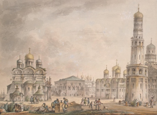 C:\Users\Мария\Downloads\G.Quarenghi_-_Views_of_Moscow_and_its_Environs_-_Sobornaya_Square_at_the_Moscow_Kremlin_-_1797.jpg