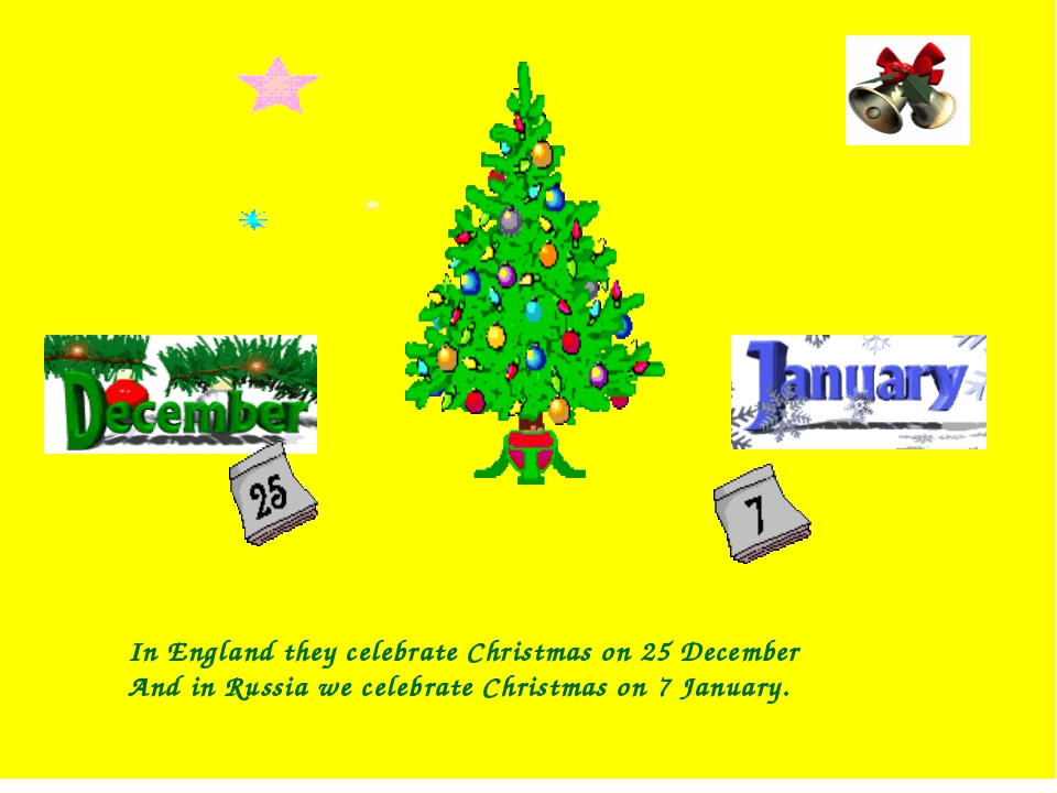 In England they celebrate Christmas on 25 December And in Russia we celebrat...