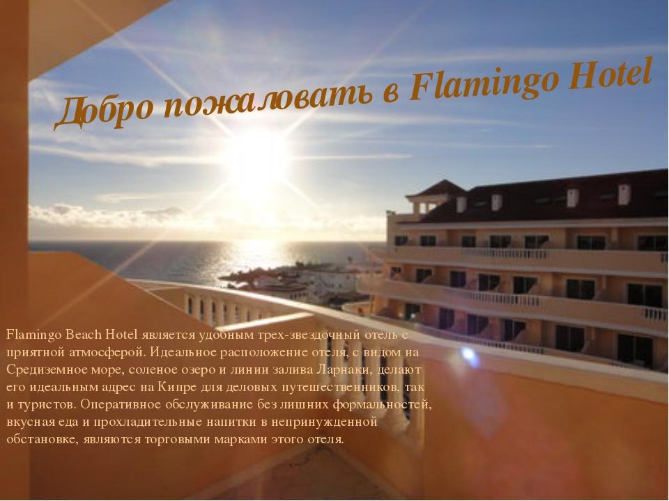 Flamingo Beach Hotel является удобным трех-звездочный отель с приятной атмосф...