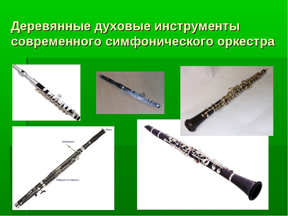Деревянные духовые инструменты современного симфонического оркестра