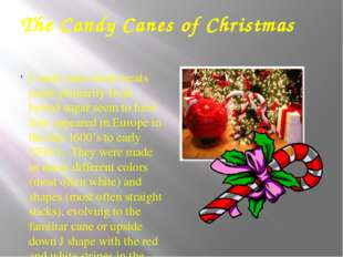 The Candy Canes of Christmas Candy cane sweet treats made primarily from boil