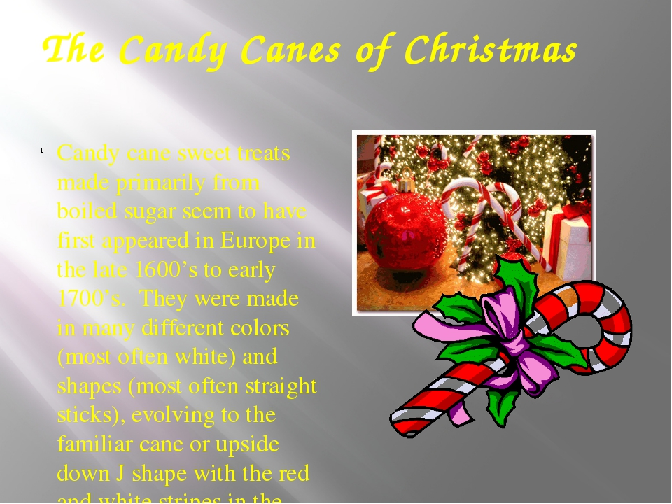 The Candy Canes of Christmas Candy cane sweet treats made primarily from boil...