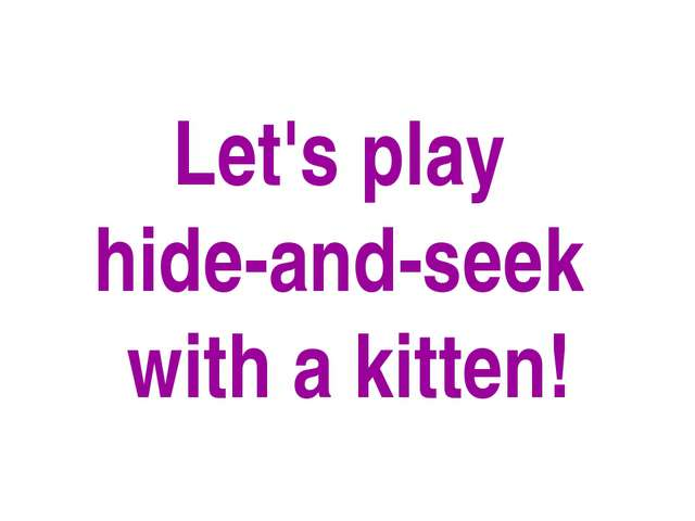 Let's play hide-and-seek with a kitten!