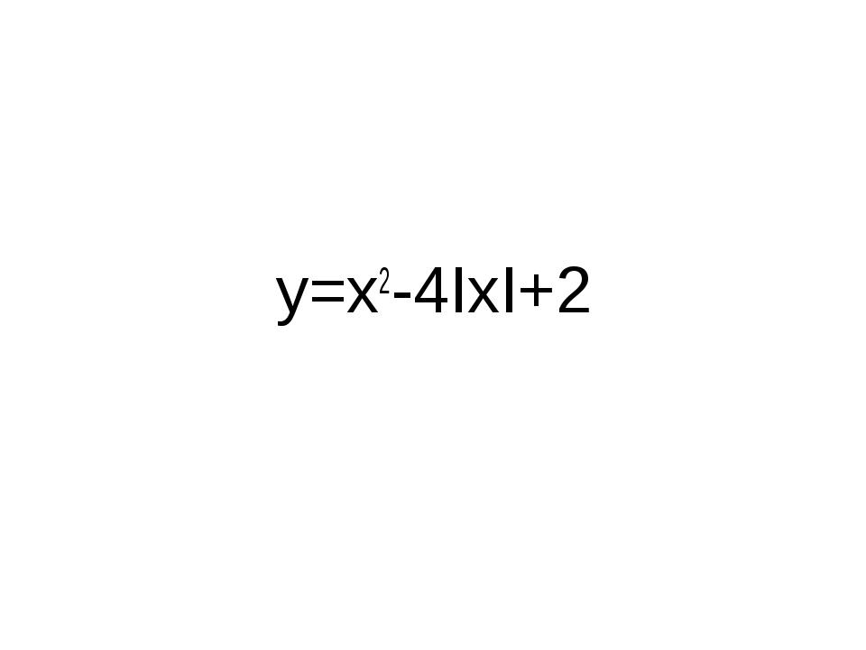y=x2-4IxI+2
