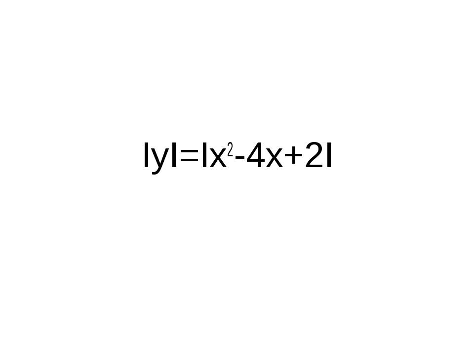 IyI=Ix2-4x+2I