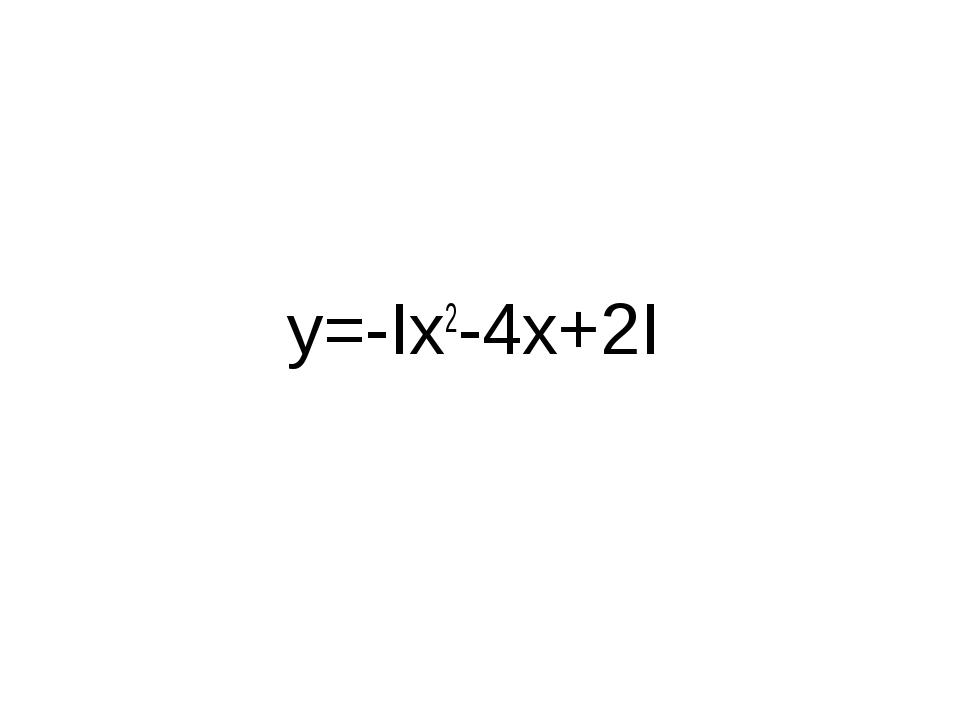 y=-Ix2-4x+2I