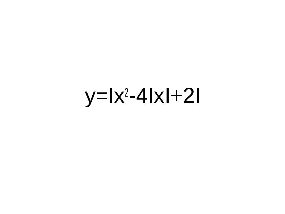 y=Ix2-4IxI+2I