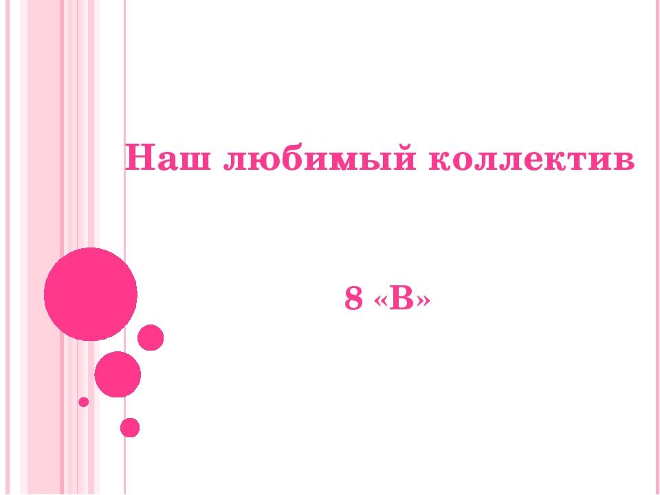 Наш любимый коллектив 8 «В»