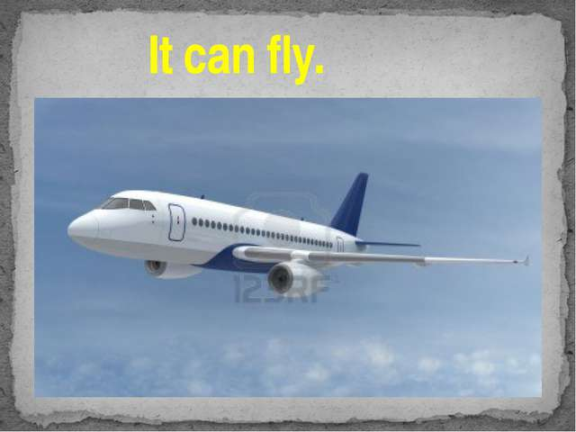 It can fly.