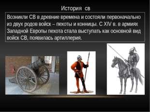 История св Возникли СВ в древние времена и состояли первоначально из двух род