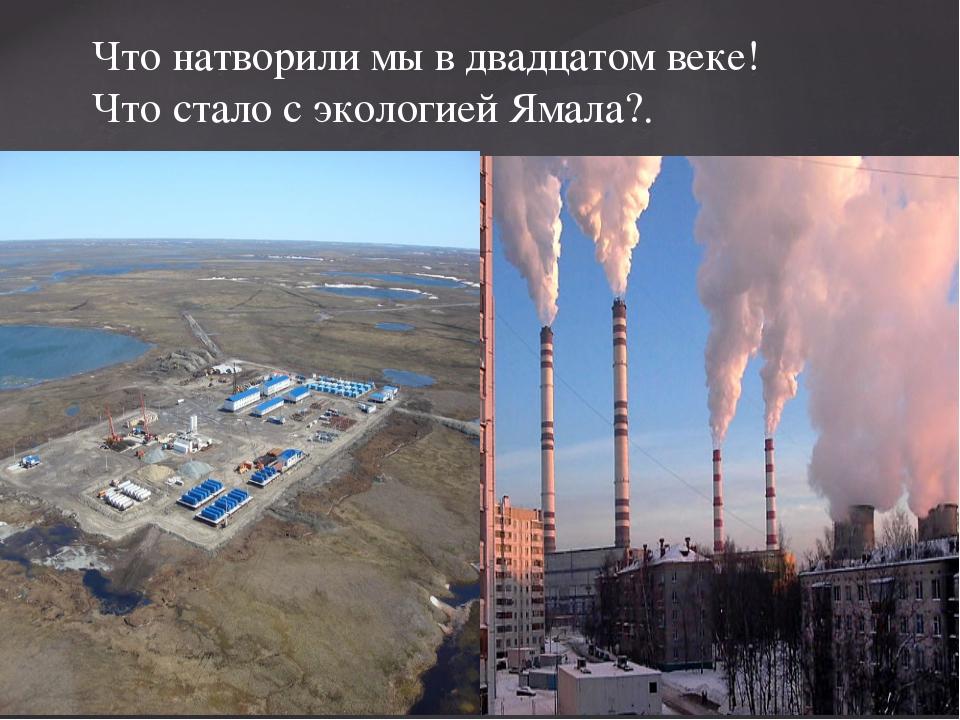 Что натворили мы в двадцатом веке! Что стало с экологией Ямала?. {