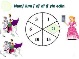 * Naməlum ədədi təyin edin. 21