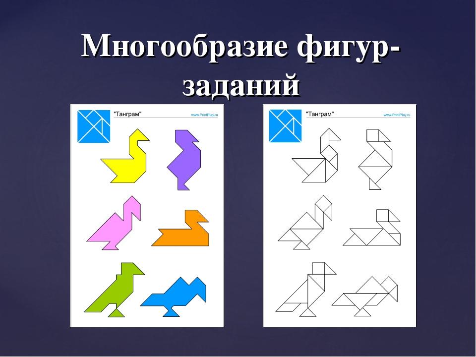 Многообразие фигур-заданий