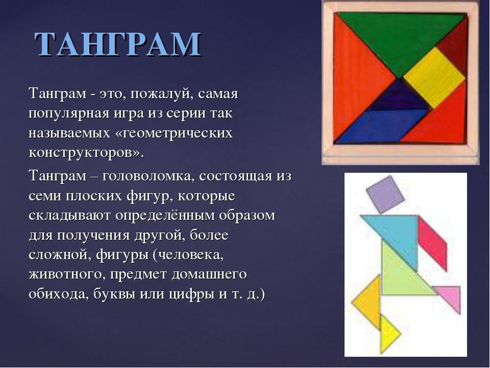Танграм - это, пожалуй, самая популярная игра из серии так называемых «геомет...