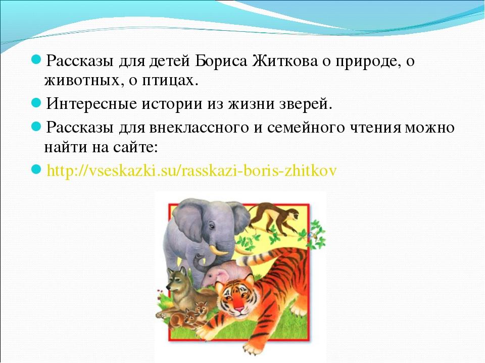 Рассказы для детей Бориса Житкова о природе, о животных, о птицах. Интересные...