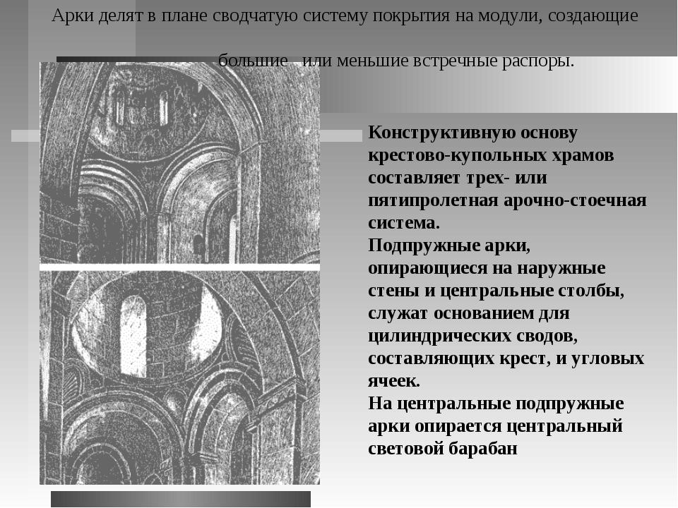 Конструктивную основу крестово-купольных храмов составляет трех- или пятипрол...