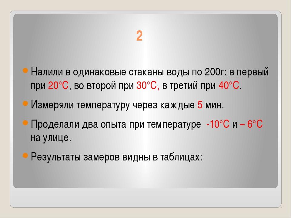2 Налили в одинаковые стаканы воды по 200г: в первый при 20°С, во второй при...