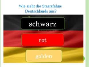 Wie sieht die Staatsfahne Deutschlands aus? schwarz rot golden