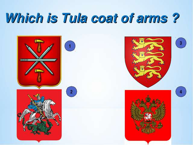 Which is Tula coat of arms ? 1 2 3 4