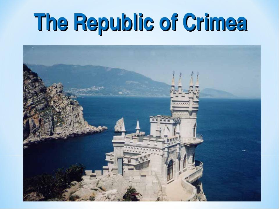 The Republic of Crimea