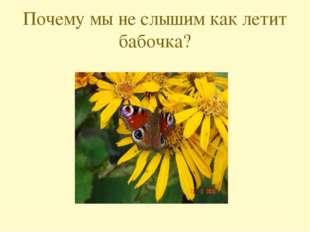 Почему мы не слышим как летит бабочка?